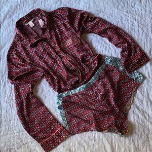 Victoria's Secret Satin Pajama Set Size Small